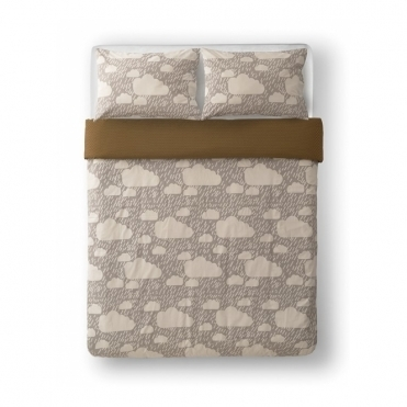 Rainy Day Grey Reversible Bed Set - King