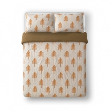 Single Tree Cream Reversible Bed Set - King