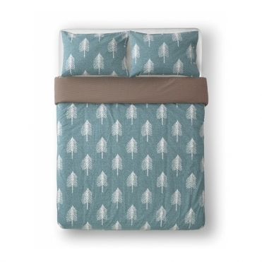 Single Tree Duck Egg Reversible Bed Set - Double
