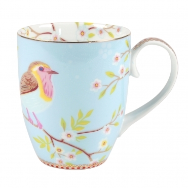 Early Bird Large Blue Mug