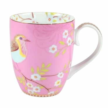 Early Bird Large Pink Mug