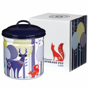 Enamel Storage Pot