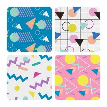 Era 80s Drink Coasters Set of 4 in Gift Box