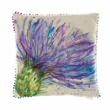 Expressive Thistle Square Cushion 50cm