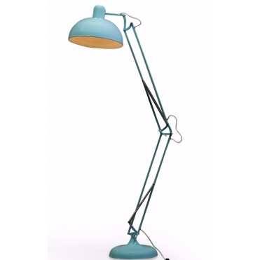 Extra Large Desk Style Angled Floor Lamp - Sky Blue