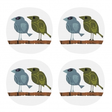 Family of Birds Coasters in Gift Box - Set of 4