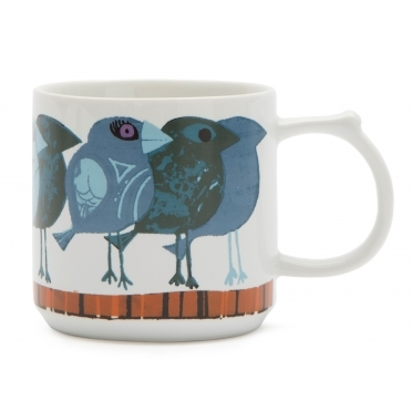 Family of Blue Birds Mug - Gift Box
