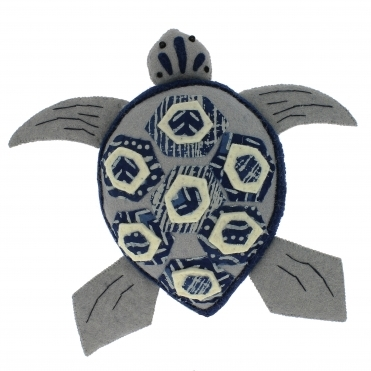 Felt Batik Turtle - Wall Decor