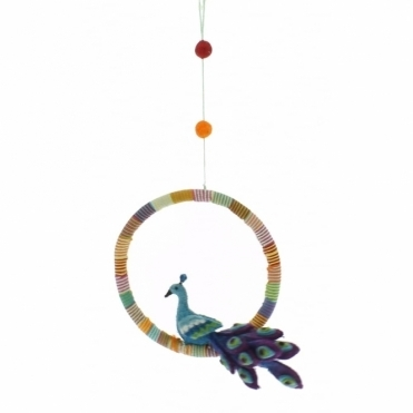 Felt Peacock Mobile / Hanging Decoration