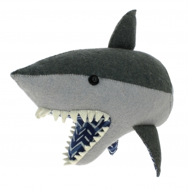 Felt Shark Head - Wall Mounted