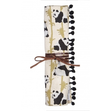 Panda & Bamboo Jewellery Roll