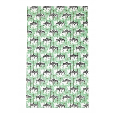 Zebra & Palm Tree Tea Towel