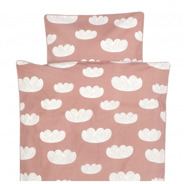 Cloud Rose Duvet Cover & Pillowcase Set - Single Adult