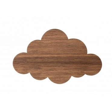 Cloud Wall Light - Smoked Oak Wood