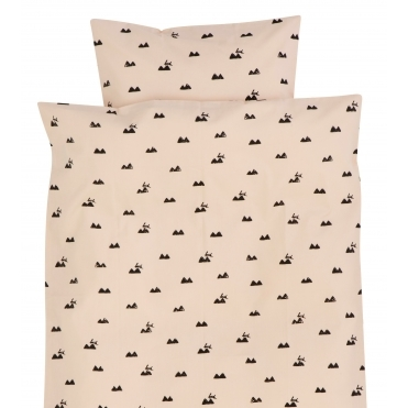 Rabbit Rose Duvet Cover & Pillowcase Set - Baby