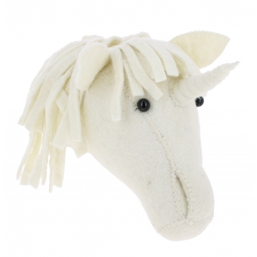 Baby Unicorn Felt Animal Wall Head - Mini