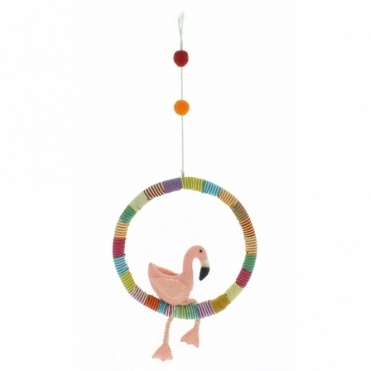 Felt Flamingo Mobile / Hanging Decoration