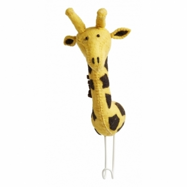 Felt Giraffe Head Coat Hook