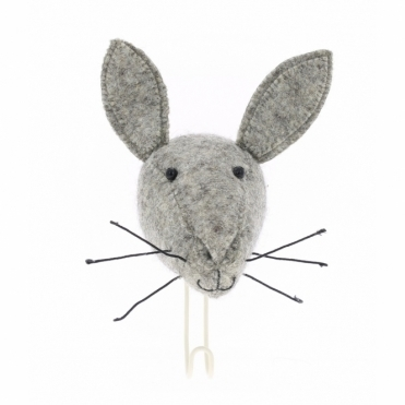 Felt Hare Head Coat Hook