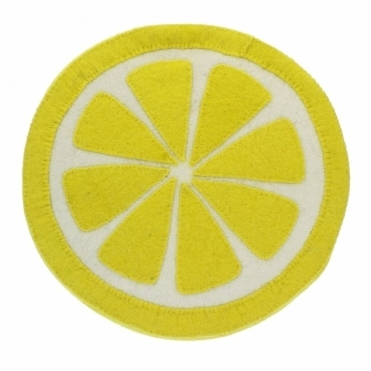 Felt Lemon Slice Wall Decoration