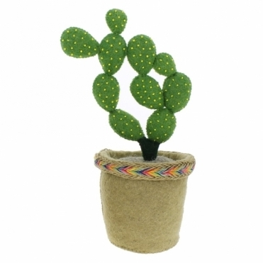 Felt Linked Circle Cactus in Pot