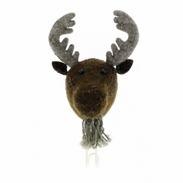 Felt Moose Head Coat Hook