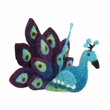 Felt Peacock - Hanging Decoration
