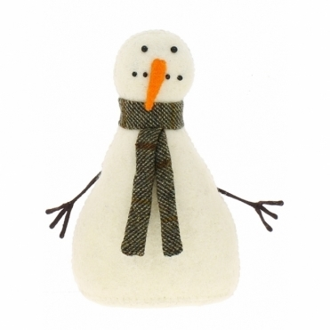 Felt Snowman Standing - Number 1 from the Snowman Family