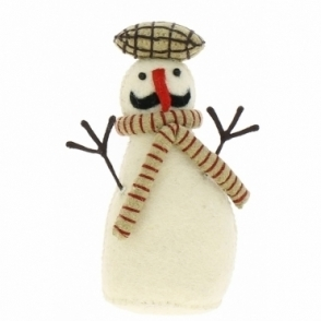 Fiona Walker England Felt Snowman Standing - Number 3 from the Snowman Family