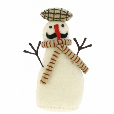 Felt Snowman Standing - Number 3 from the Snowman Family