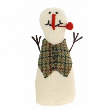 Felt Snowman Standing - Number 4 from the Snowman Family