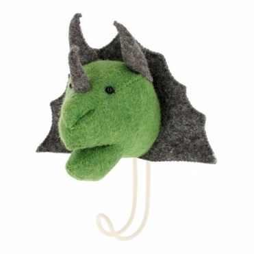 Felt Triceratops Head Coat Hook