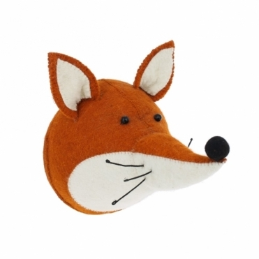 Fox Felt Animal Head Wall Mounted