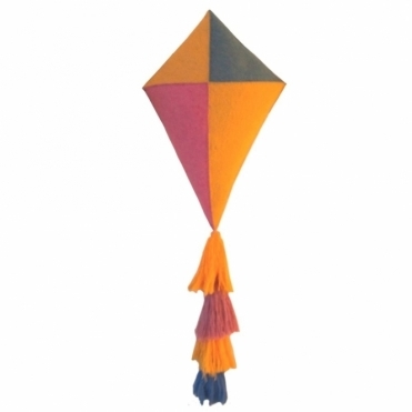 Girls' Felt Kite with Tassel Tail Wall Hanging