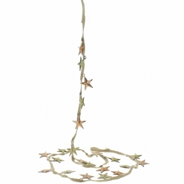 Gold & Copper Metal Star Garland Decoration