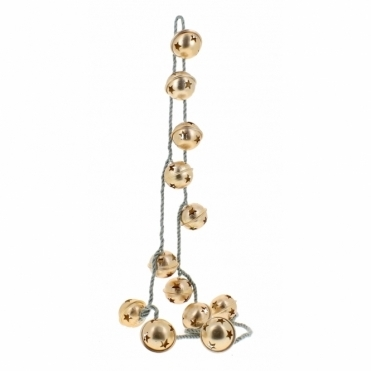 Gold Star Bell Garland Decoration