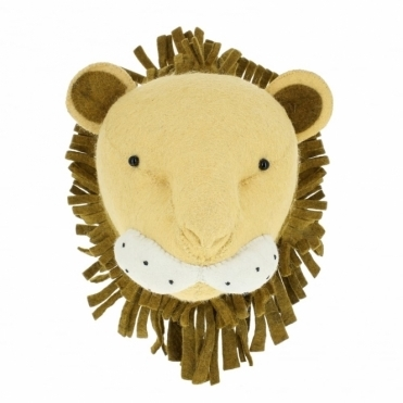 Lion Felt Animal Head Wall Mounted