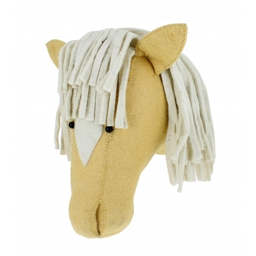 Palomino Horse Felt Animal Head Wall Mounted