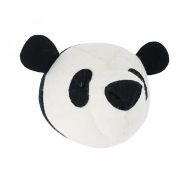 Panda Felt Animal Head Wall Mounted