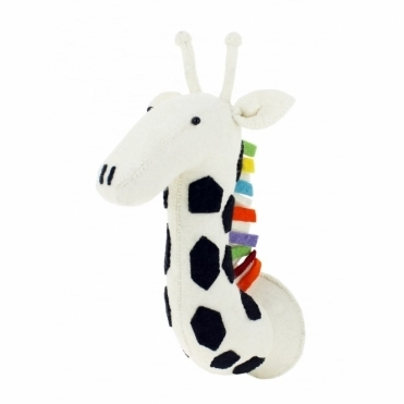 Rainbow Safari Giraffe Felt Animal Head Wall Mounted