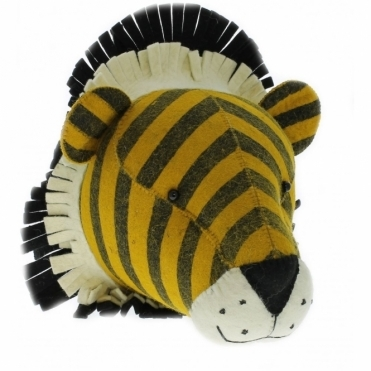 Stripe Tiger Felt Animal Head Wall Decor