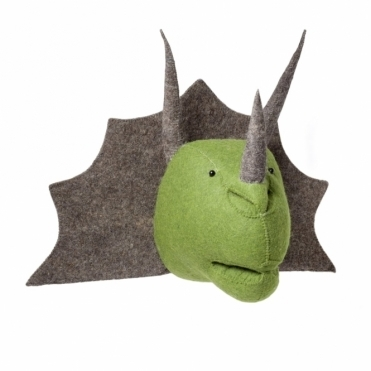 Triceratops Felt Dinosaur Head Wall Mounted