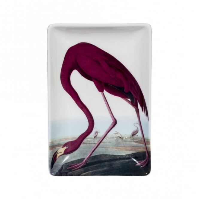 Flamingo Trinket Tray - Illustrated Gift Box