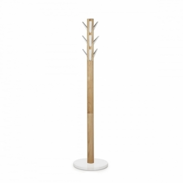 Flapper Coat Stand - White / Natural