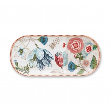 Floral Off White / Cream Cake Serving Tray