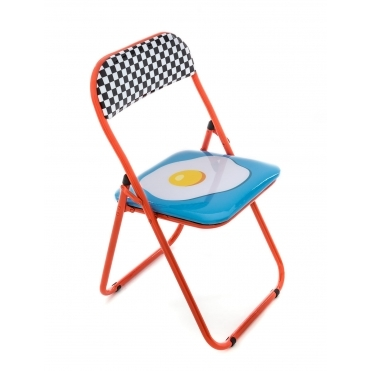 Folding Metal Chair - Egg
