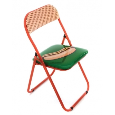 Folding Metal Chair - Hot Dog