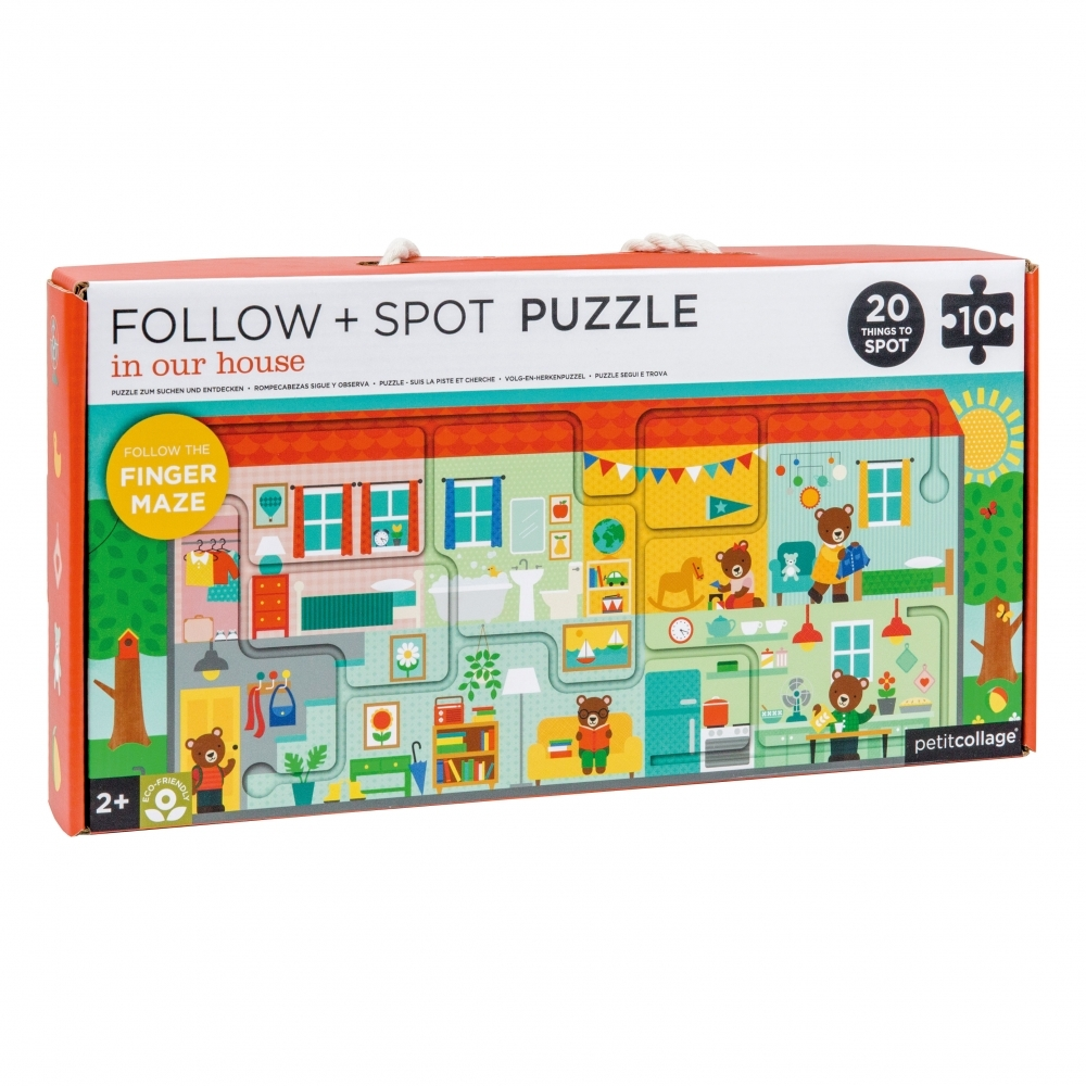 Follow & Spot Floor Puzzle Finger Maze - In Our House