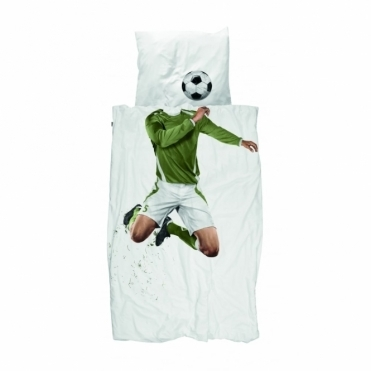 Football Champ Green Single Duvet Cover & Pillowcase Set
