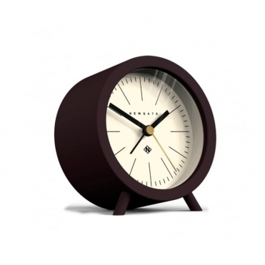 Fred Alarm Clock - Chocolate Black / White Dial